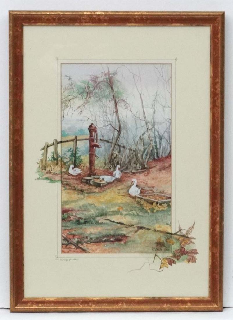 Glenda Rae XX -XXI, Watercolour and gouache, ' Village