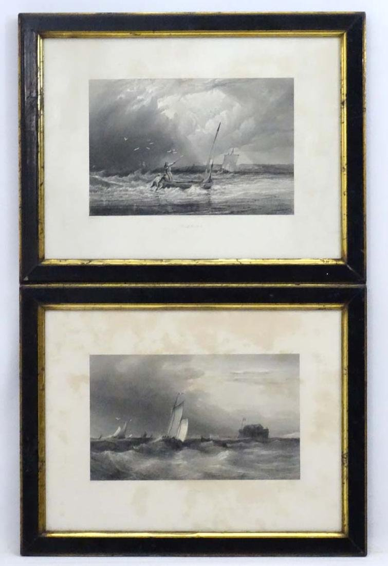 Art Union Engravings, Two  monochrome engravings, '