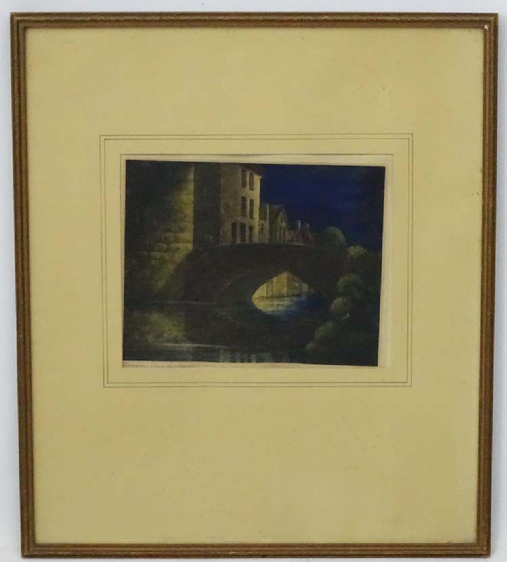 Vincent Carr XIX Coloured print ' Bruges - (Pont du