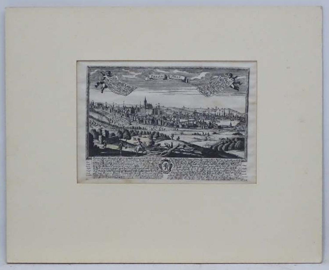 XX Topographical School, Monochrome engraving on linen,