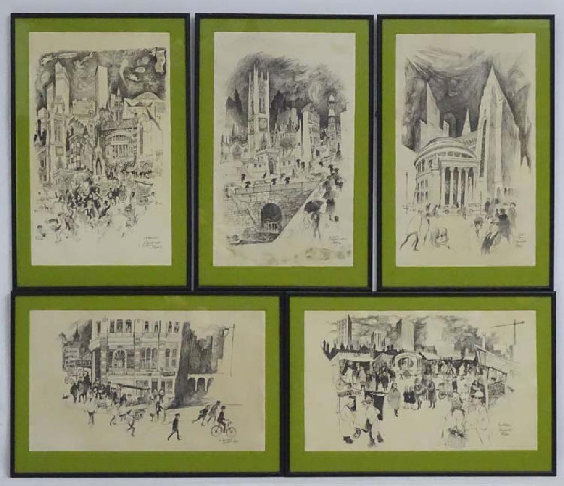 After William Papas (1927-2000), Monochrome prints X 5,