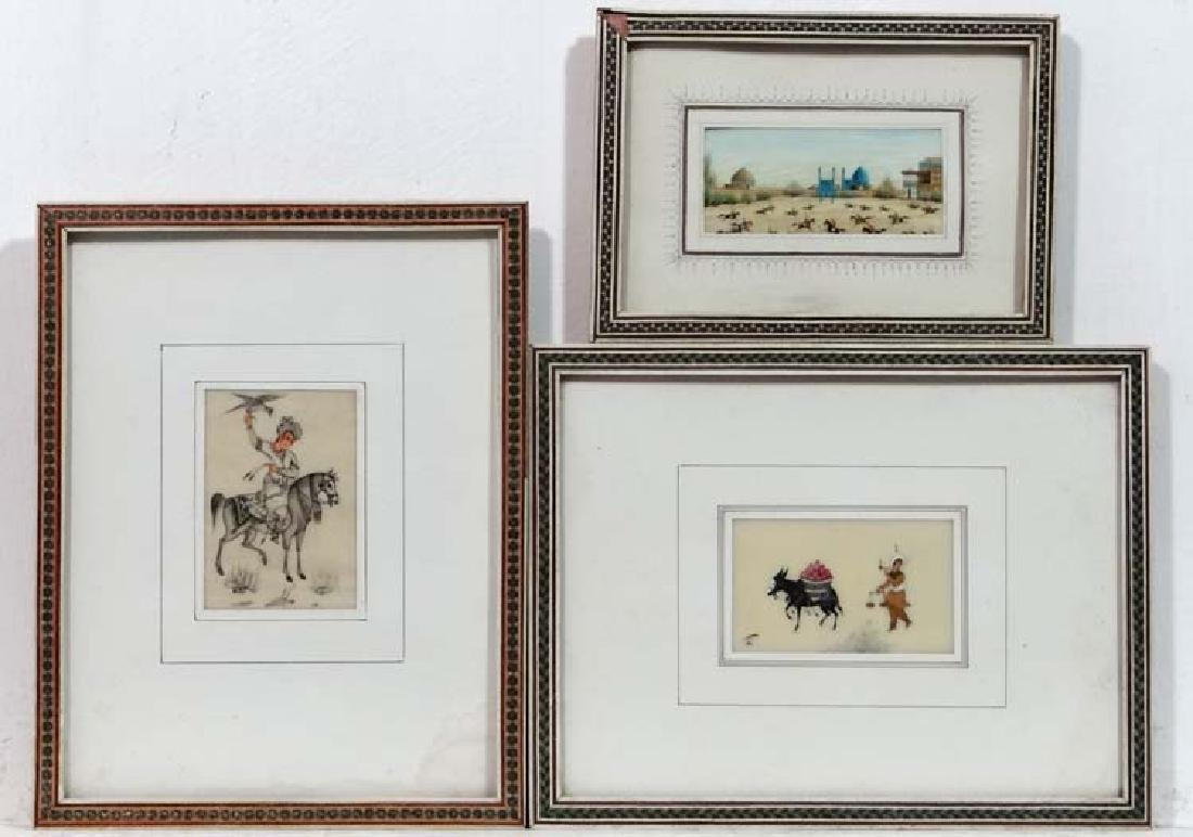 Indian School c. 1910, Watercolour miniatures on Ivory