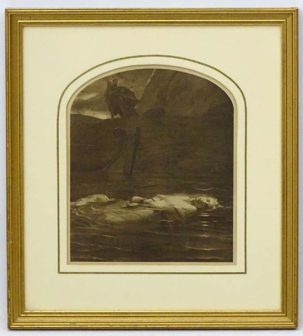After Paul Delaroche (1797-1856), Sepia arch shaped