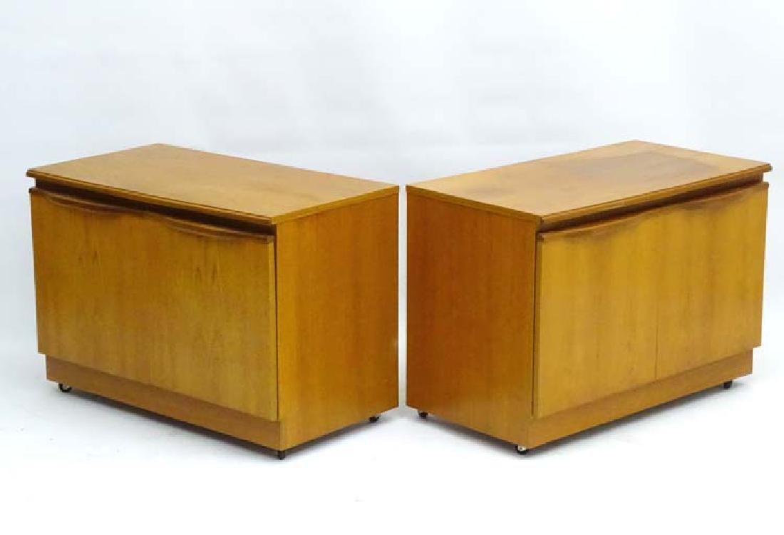 Vintage Retro: A pair of 1960's teak 2 door low