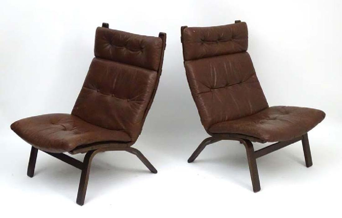 Vintage Retro : a pair of Danish Stouby like formed
