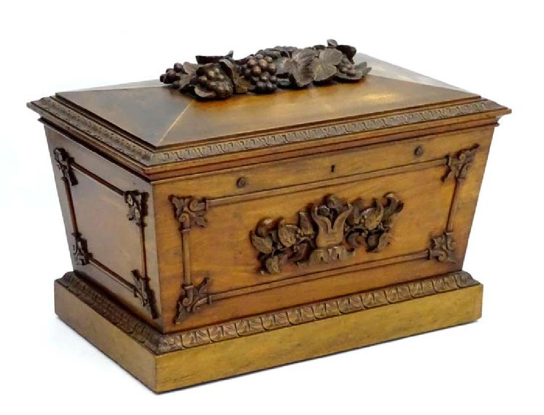A William IV mahogany cellarete in the classical