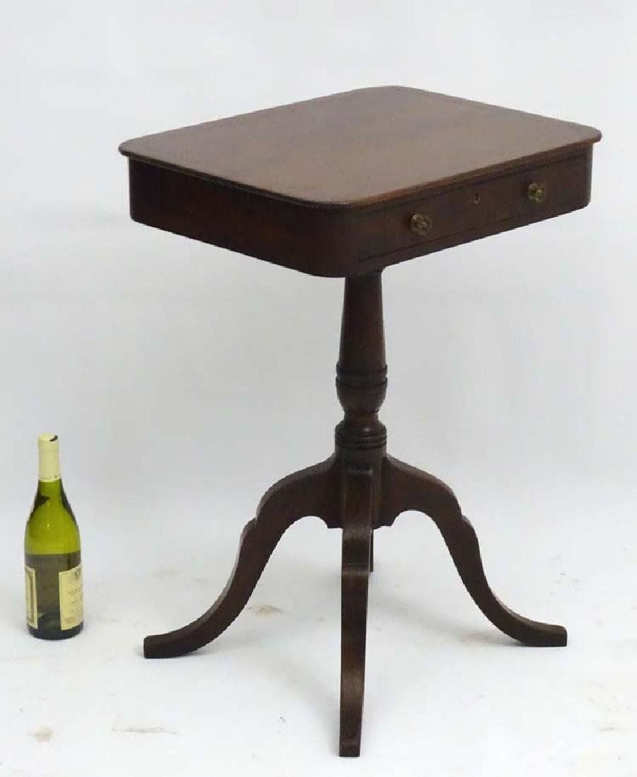 A Regency mahogany Occasional Table, with single short