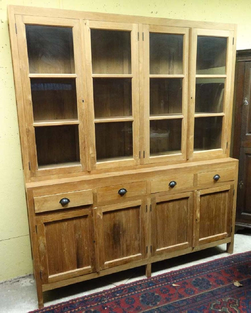 A 21stC glazed top Dresser having four drawers and four