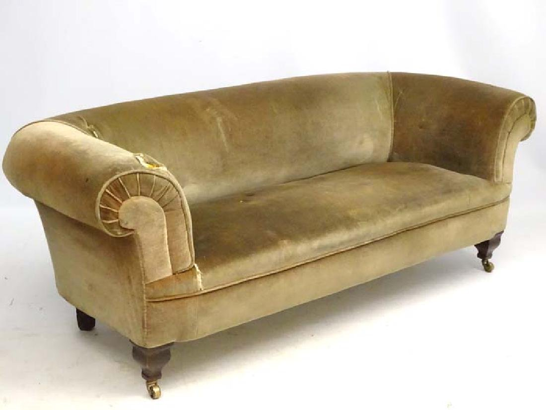 A late 19thC Chesterfield sofa, manner of Morris, with