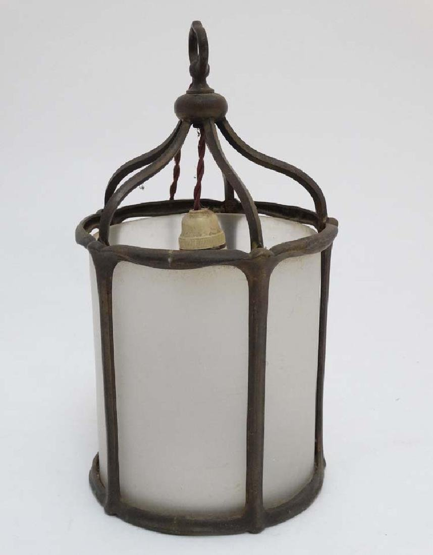 An Arts and Crafts cylindrical hall lantern with