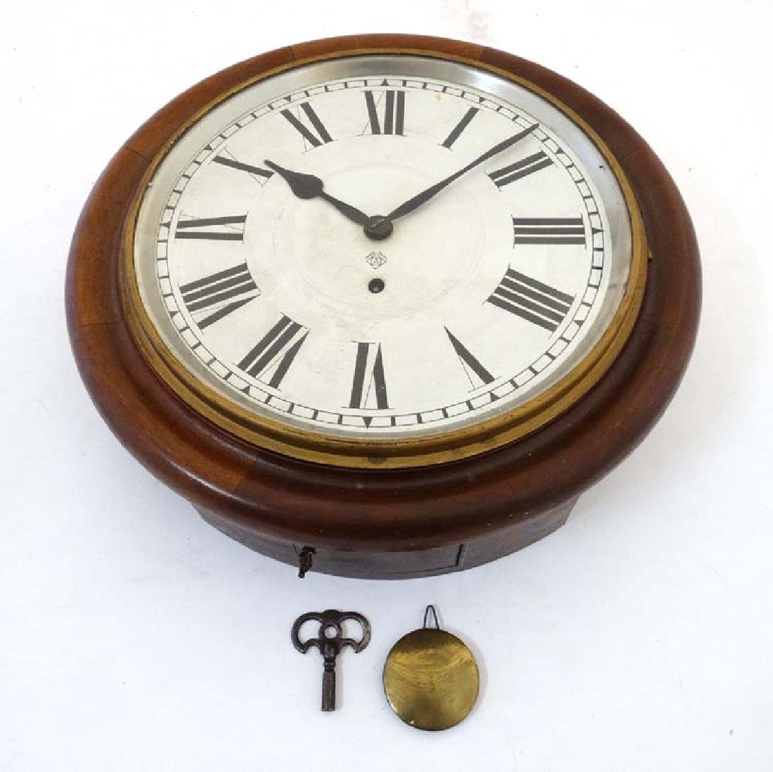 Ansonia wall clock: a mahogany cased 12'' wall - 2