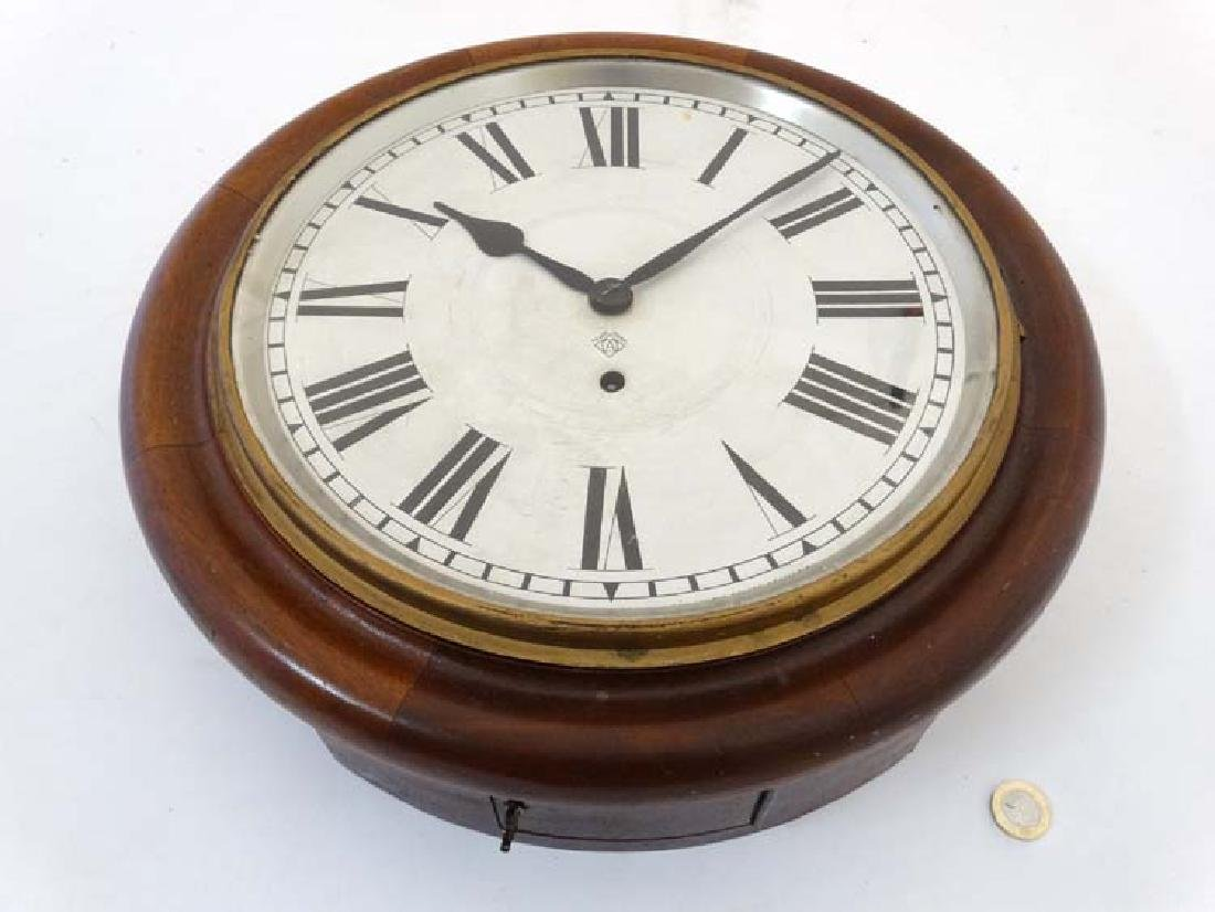 Ansonia wall clock: a mahogany cased 12'' wall - 3