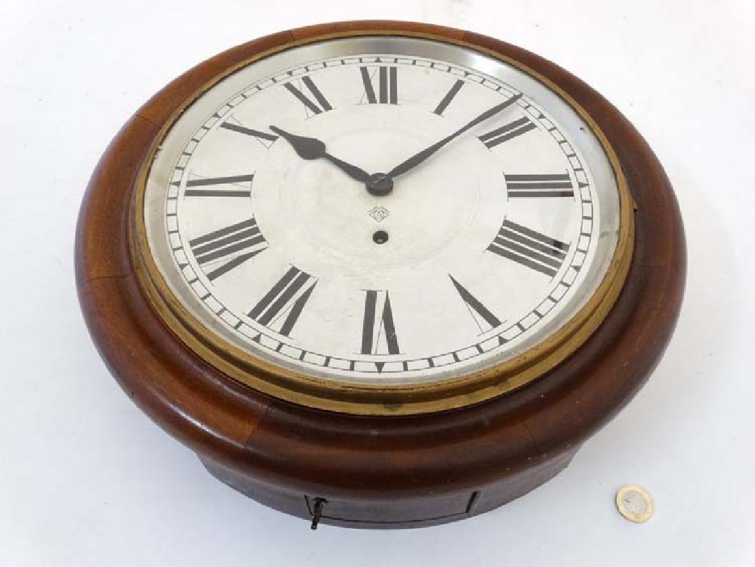 Ansonia wall clock: a mahogany cased 12'' wall - 3