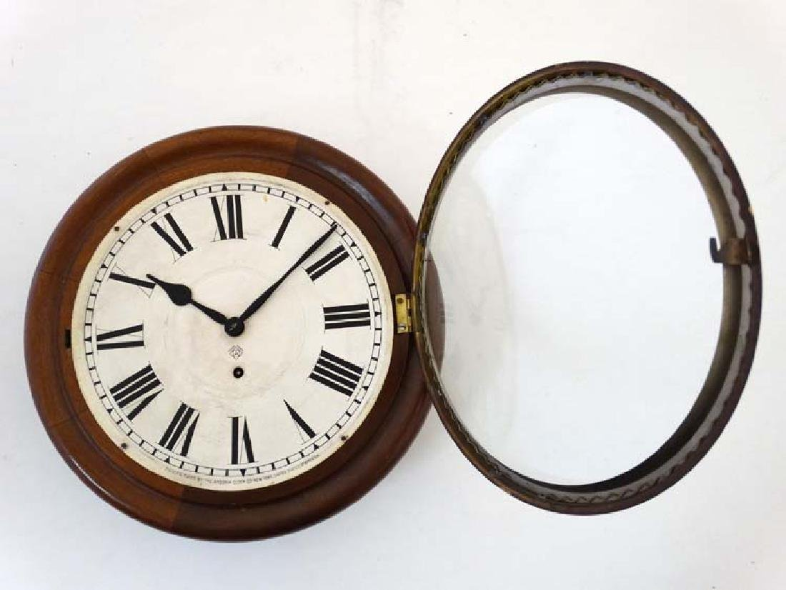 Ansonia wall clock: a mahogany cased 12'' wall - 4