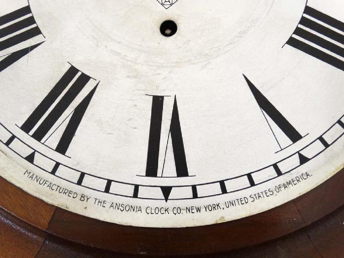 Ansonia wall clock: a mahogany cased 12'' wall - 6