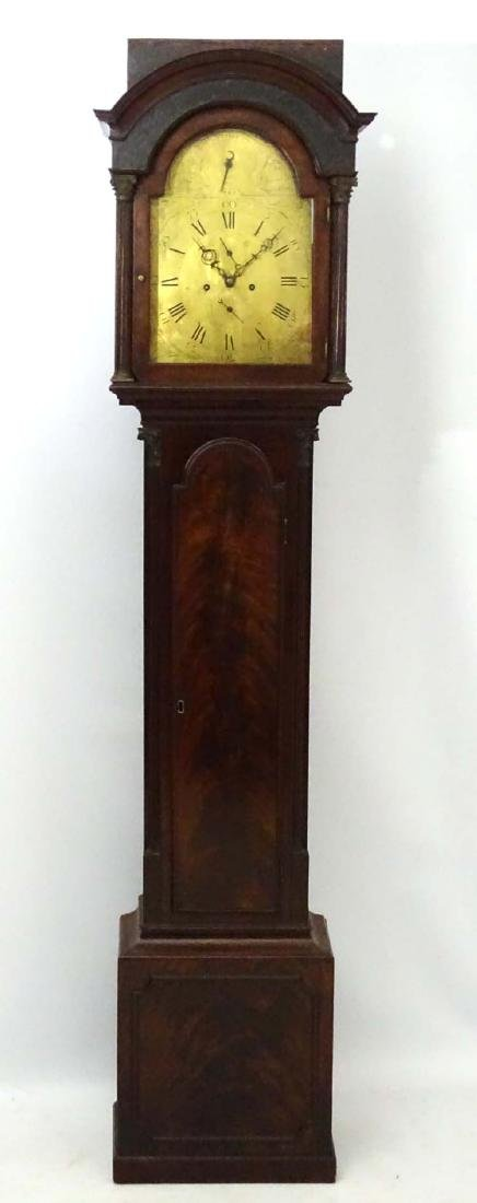 Brass dialled Longcase clock : ' James Wood ,