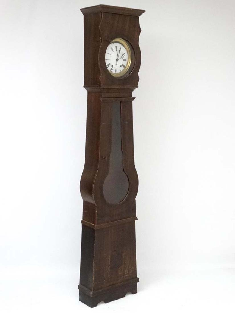 Comptoise French longcase clock : a 19 th C 8 day