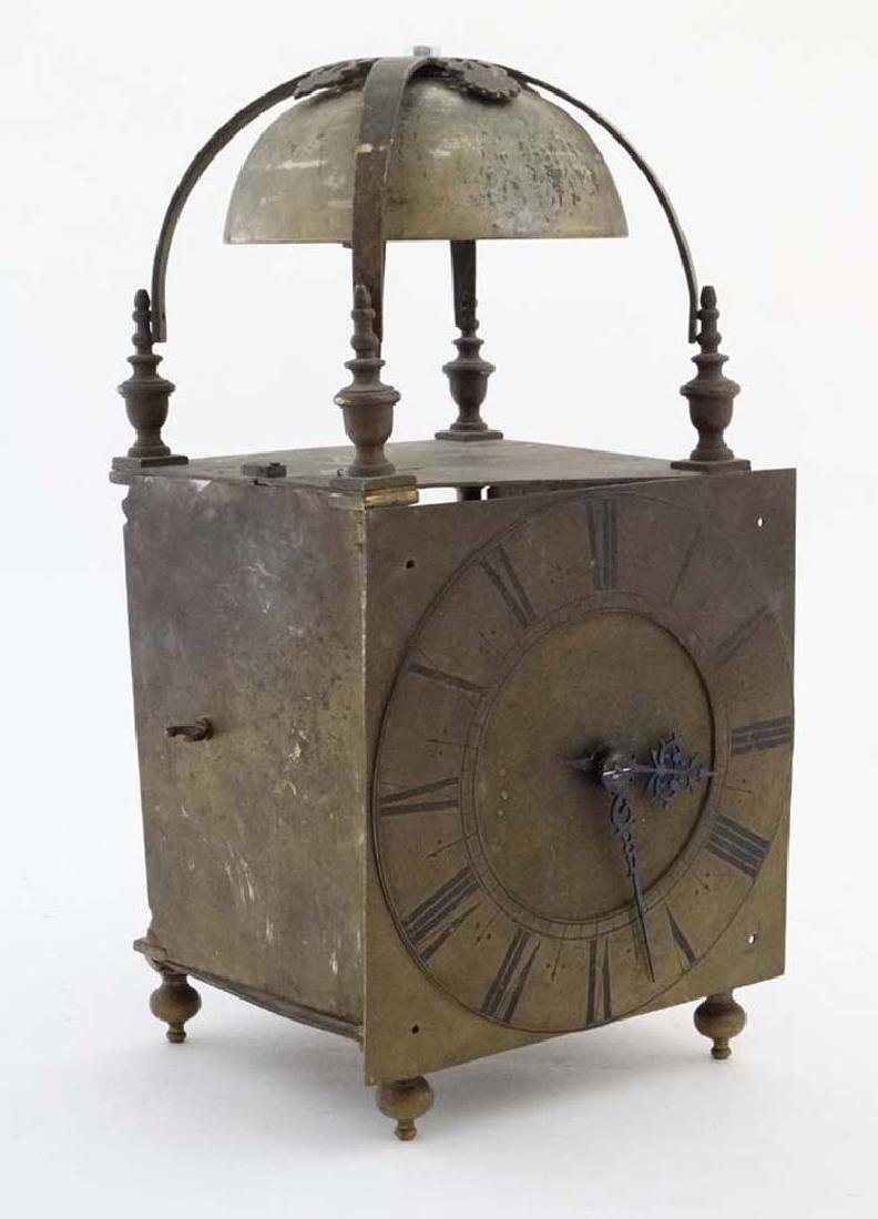 Large Lantern / Tavern Clock : an 18thC striking Tavern