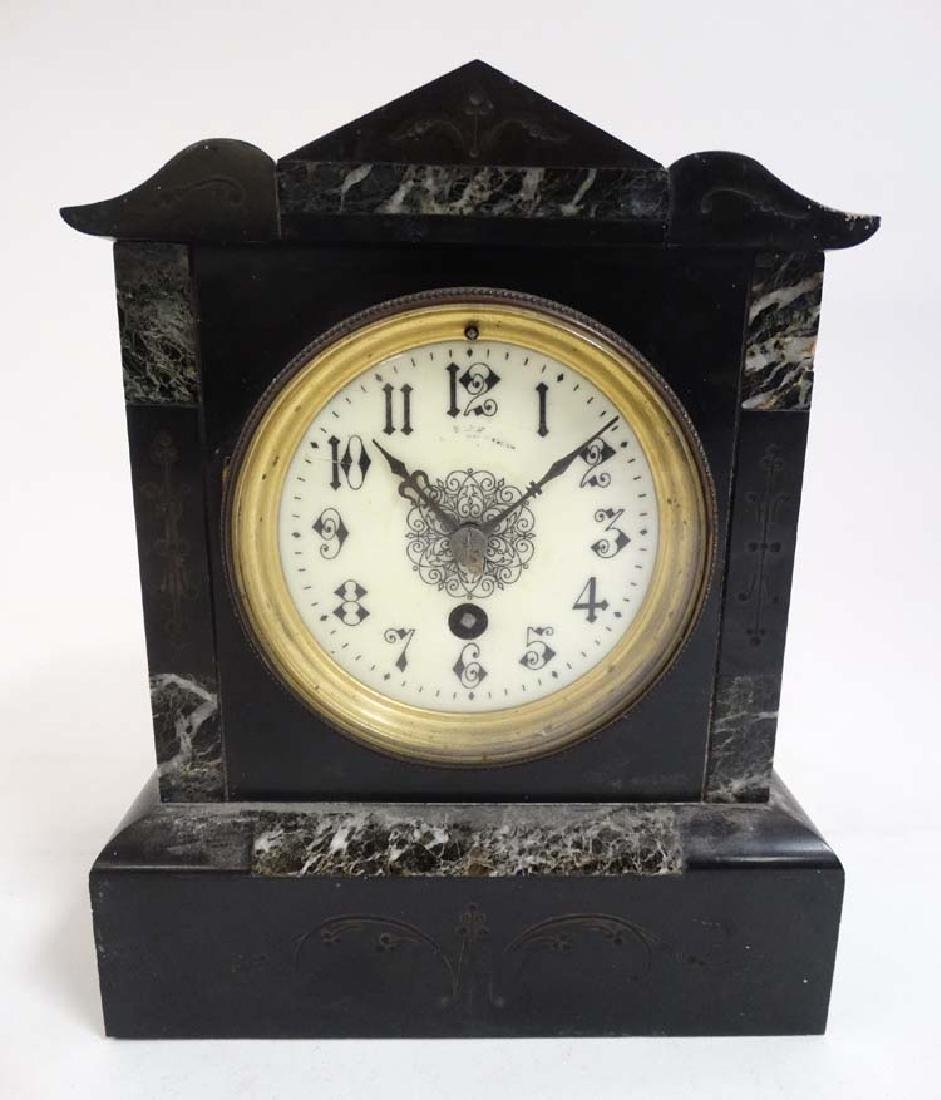 Mantle Clock : A 30 hr Timepiece with Slate and marble