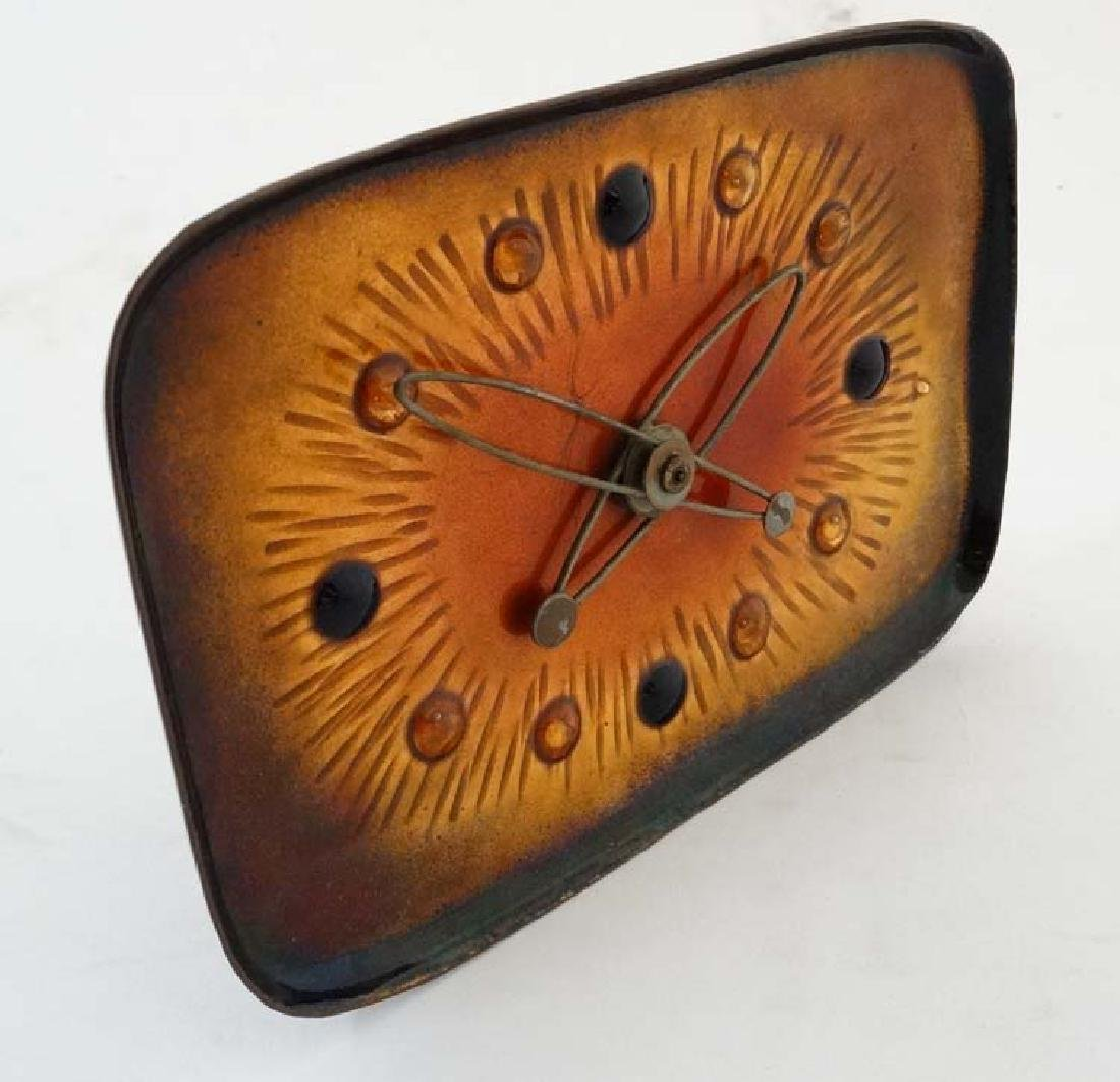 1950's Retro Clock: a battery powered enamelled German