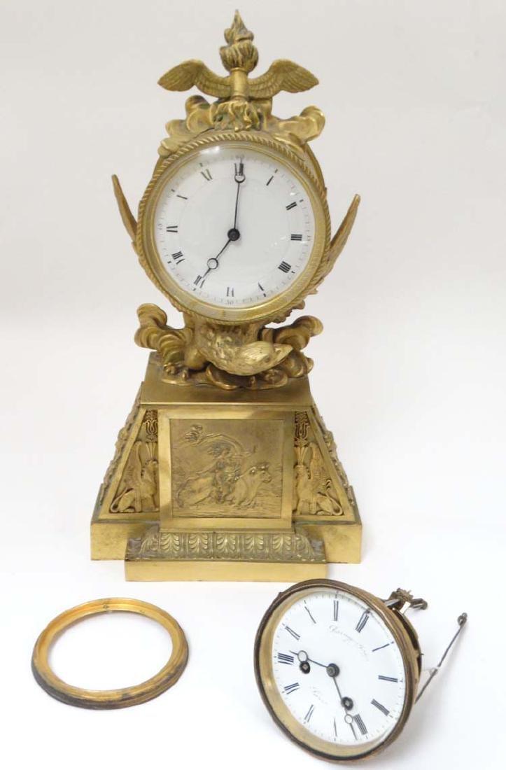 18th C Vulliamy ? clock together with a 'Raingo Frere '