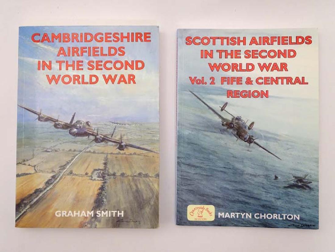 Militaria : Two books , comprising ' Scottish Airfields