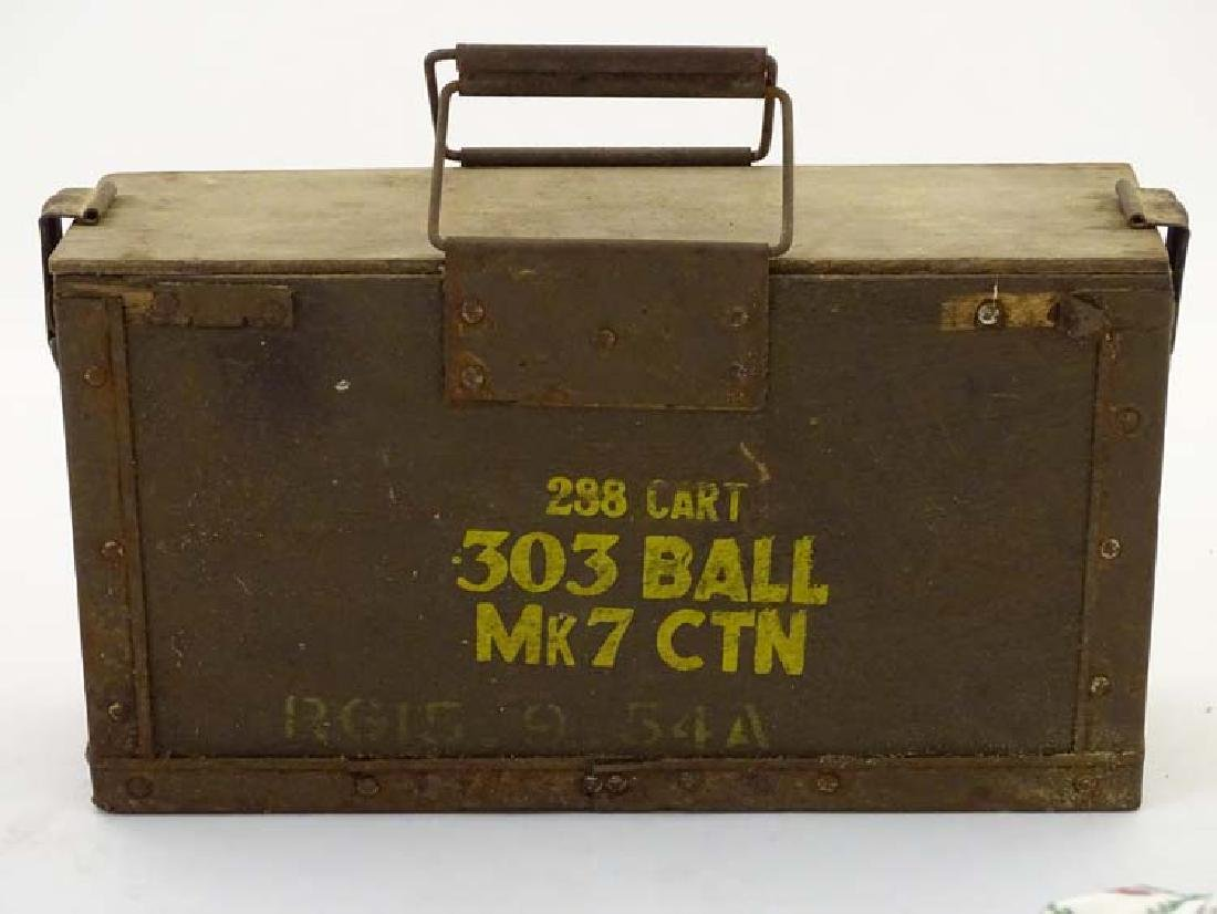 Militaria : A mid 20thC British Army ordnance crate for