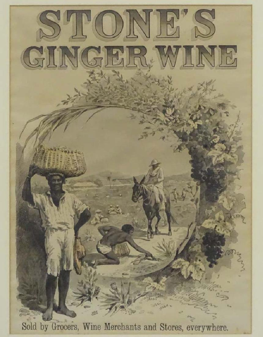 Advertising : a 'Stones Ginger Wine ' advert ' Sold by