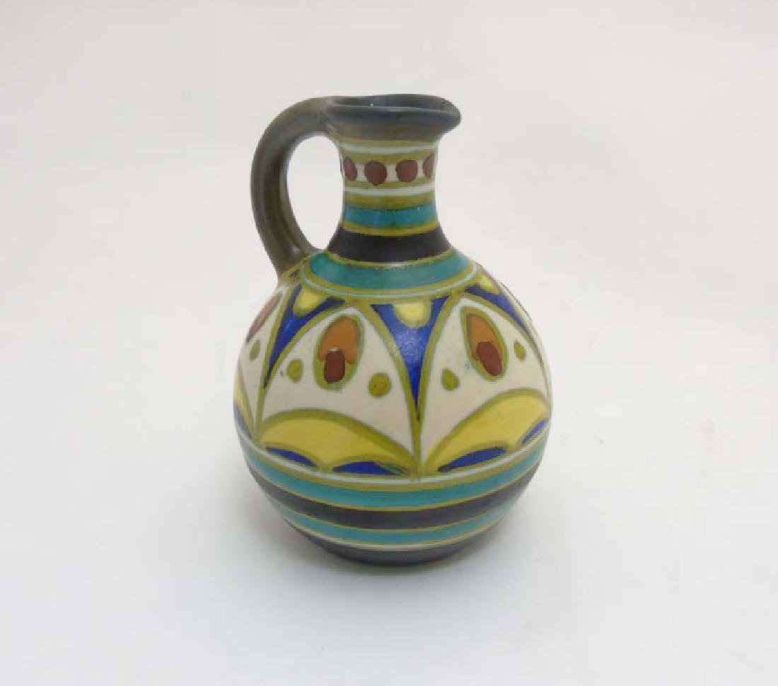 Scandinavian Pottery: A small Retro ceramic jug with