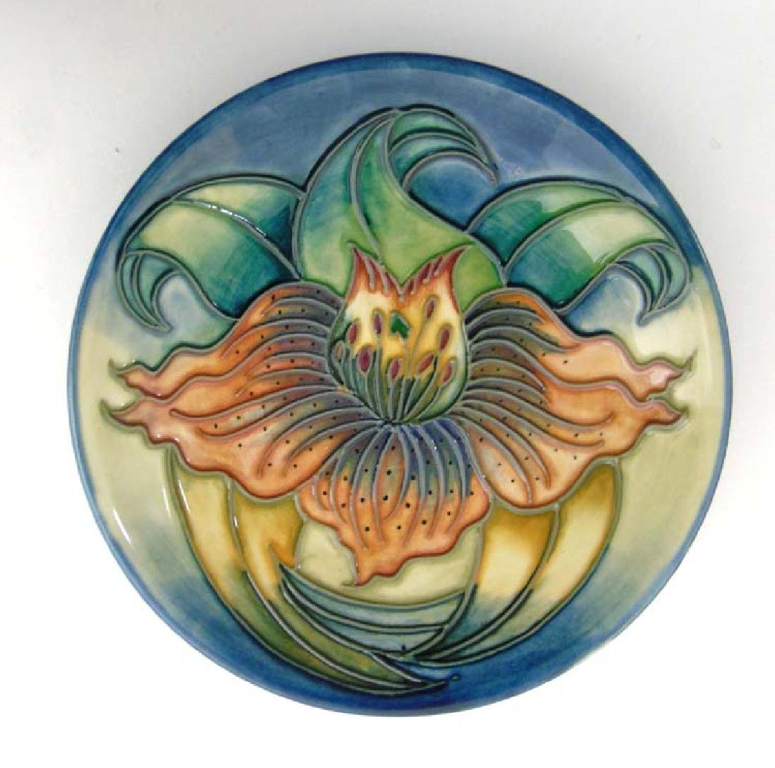 A small Moorcroft Anna Lily plate depicting an orange
