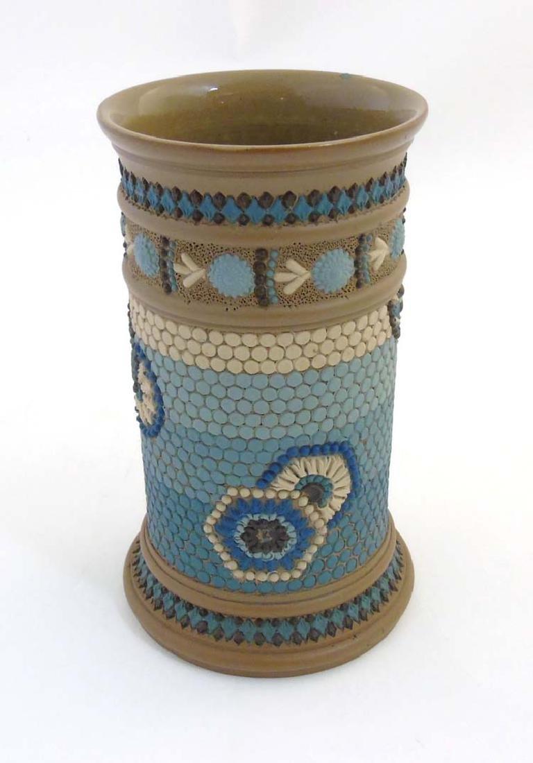 An 1884 Royal Doulton Lambeth silicon ware pot with
