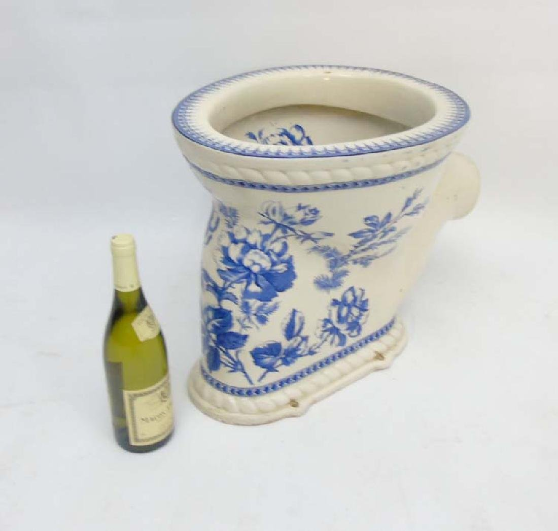 A Victorian blue and white transfer printed ''