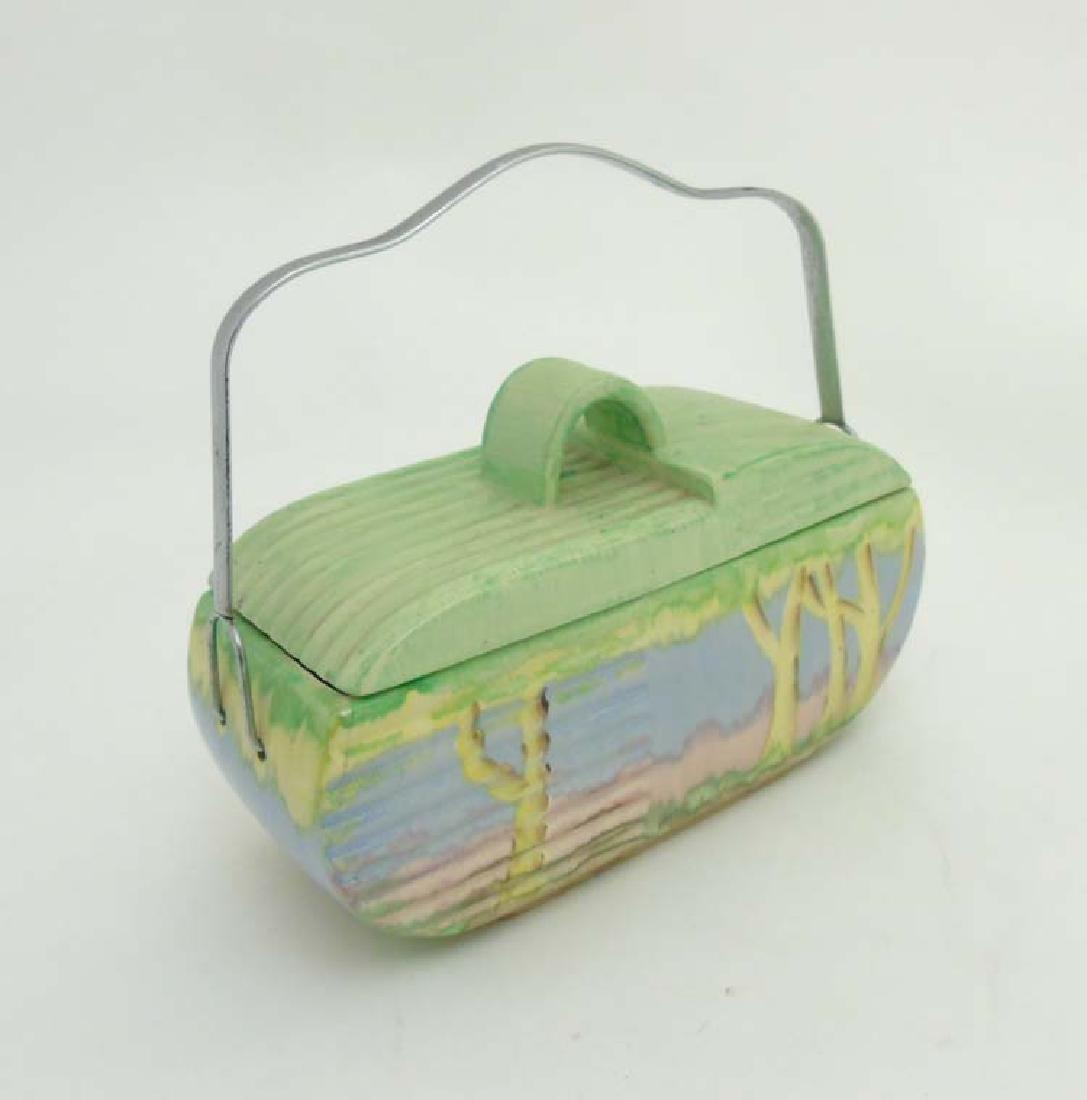 An Art Deco Beswick Biscuit Barrel, shape 170,