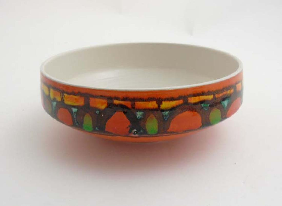 A 1970's Poole pottery Delphis bowl shape 89, decorated