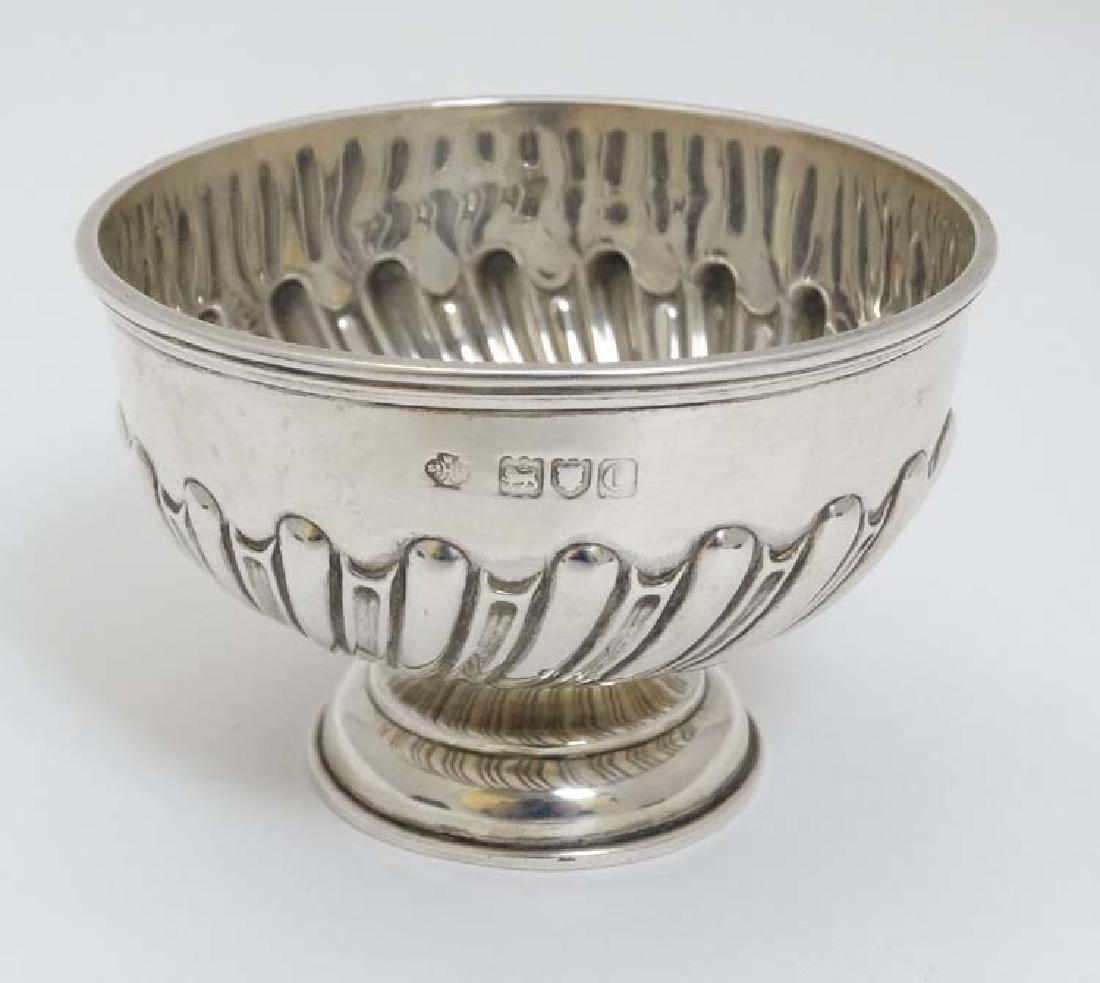 A small silver pedestal bowl hallmarked London 1898