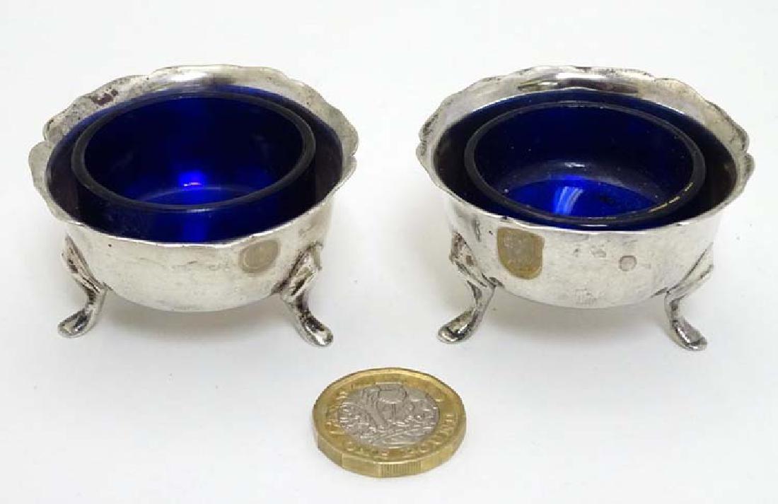 A pair of Victorian silver salts hallmarked Birmingham