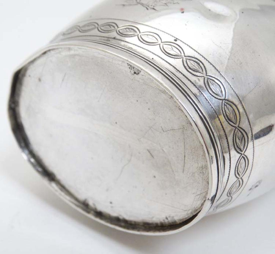 A Geo III silver cream jug  with engraved decoration - 4