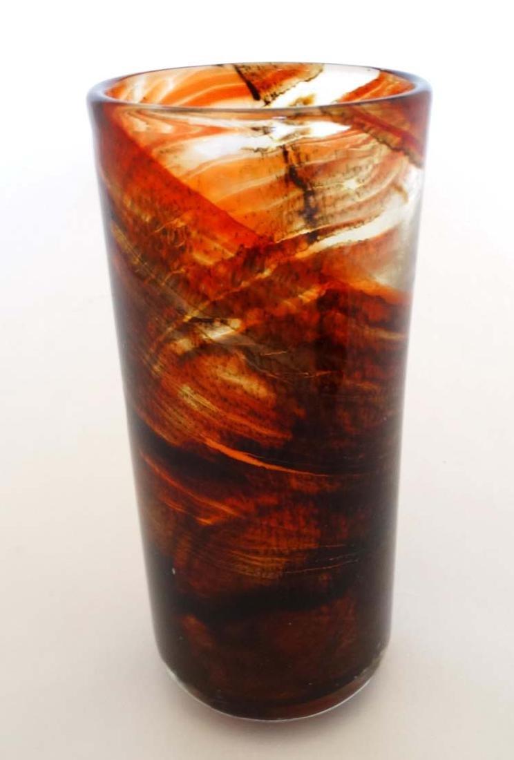 Mdina : a Maltese glass brown speckled  glass