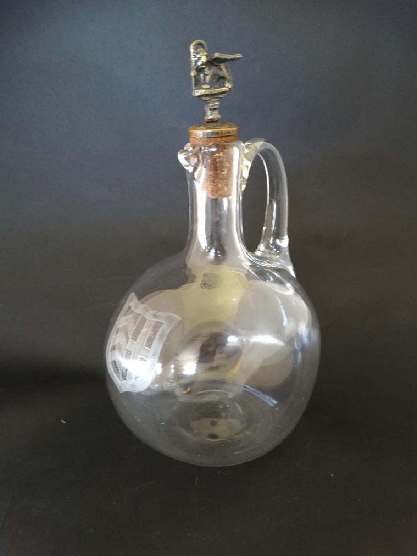Victorian Wine Carafe :a clear glass bellied Carafe