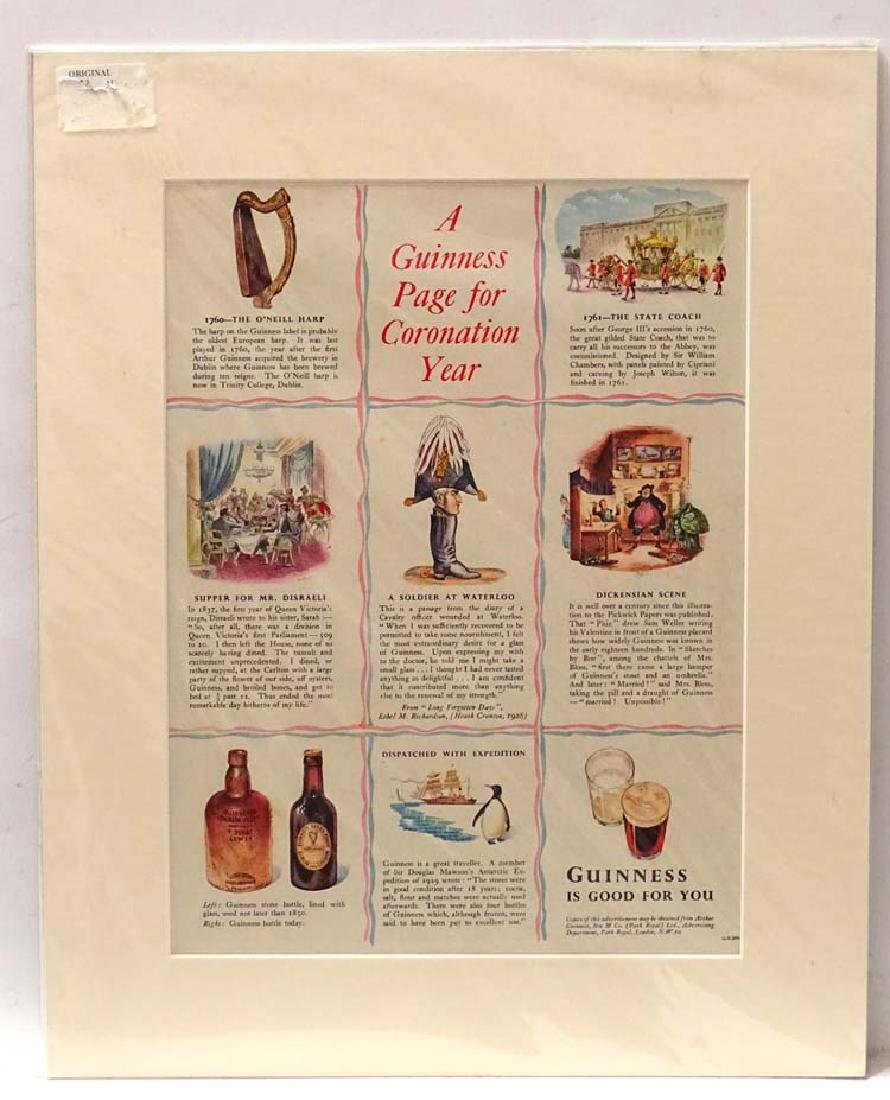 Advertising : A Guinness advert 1953, entitled '