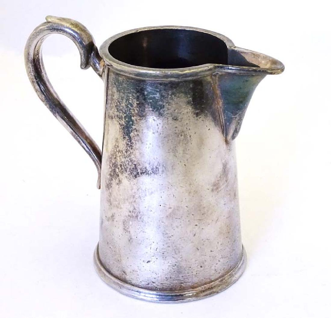 Lyons Tea : A hotel Silver plate Jug by Williams of