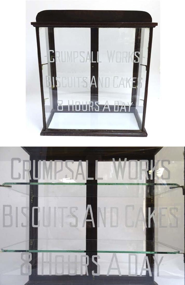 Advertising: a circa 1900 counter top glazed display