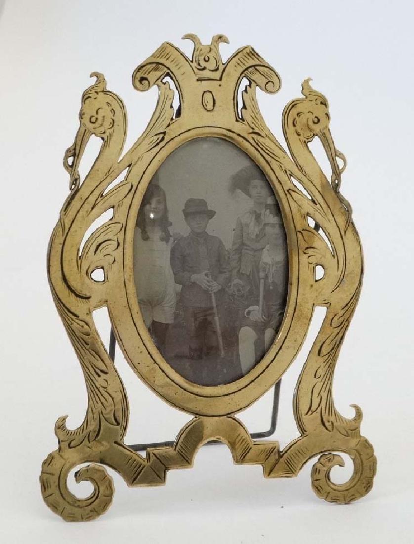 A Victorian easel / strut photo frame / hanging frame,