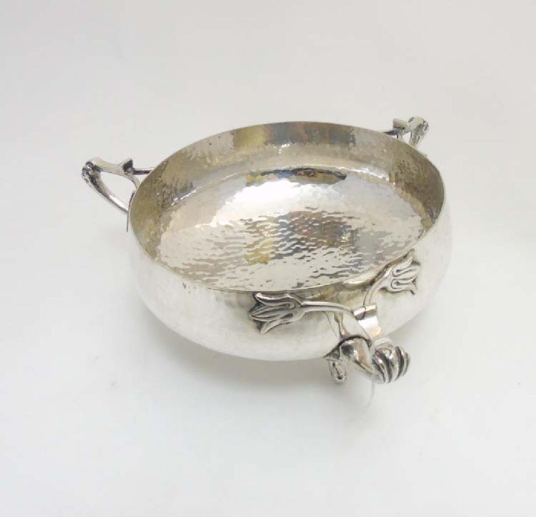 Art Nouveau Newlo Plate plannished silver plate the