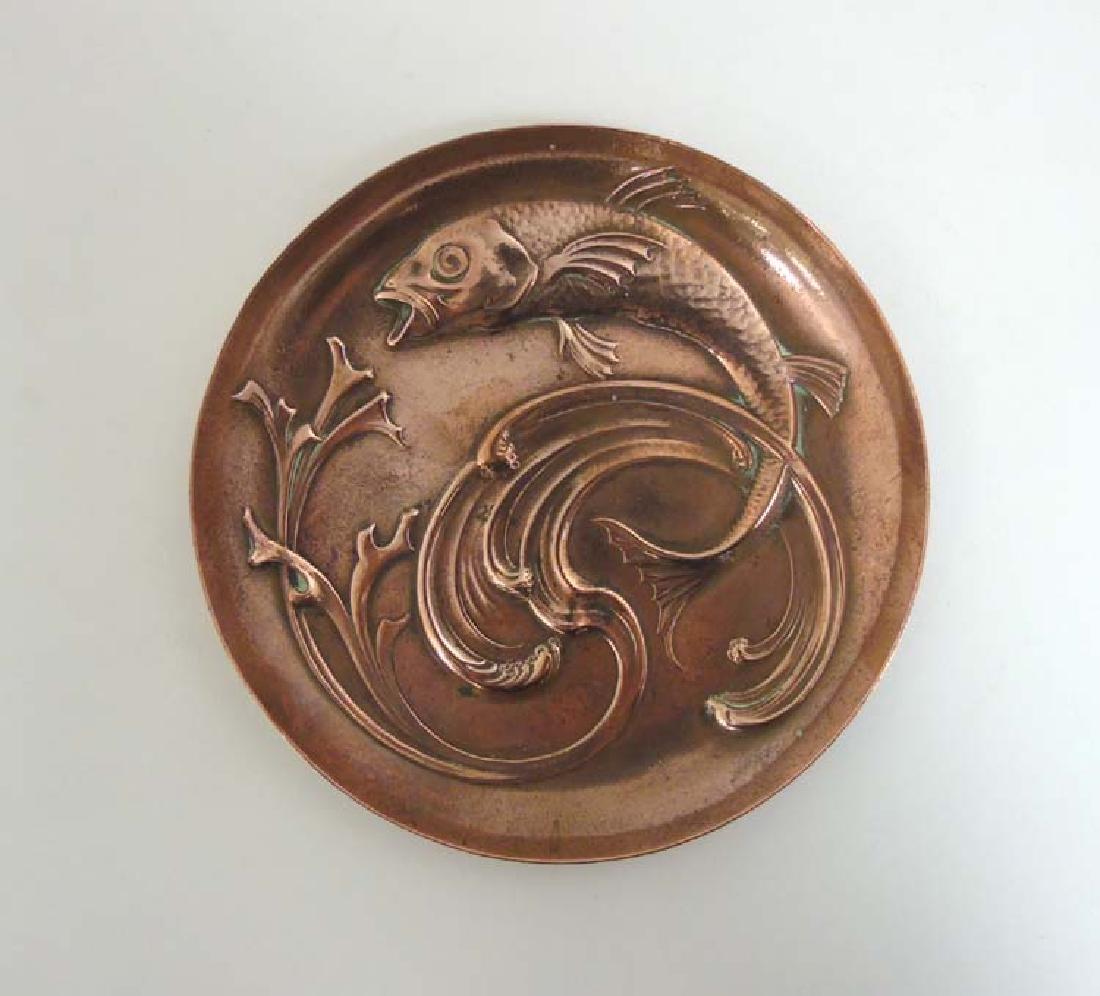 Decorative Metalware : WMF -  A copper embossed dish