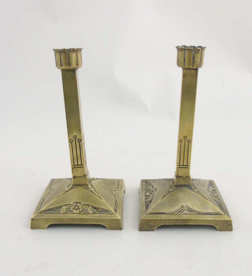 Decorative Metalware : A pair of German Art Nouveau