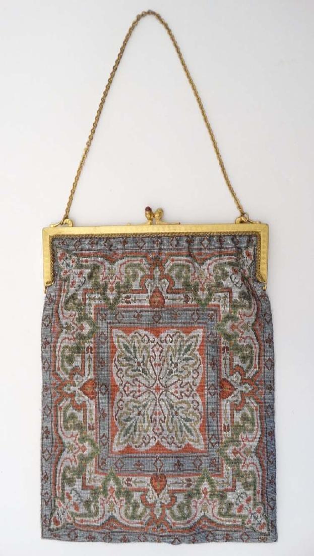 An early 20th C French fine cut steel ladies handbag,