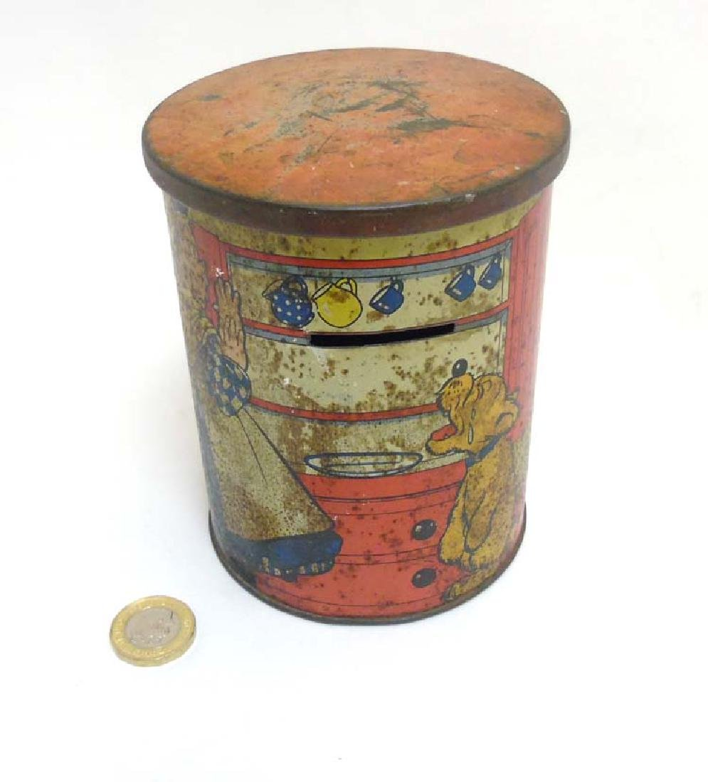 An early 20thC polychrome lithographed biscuit tin /