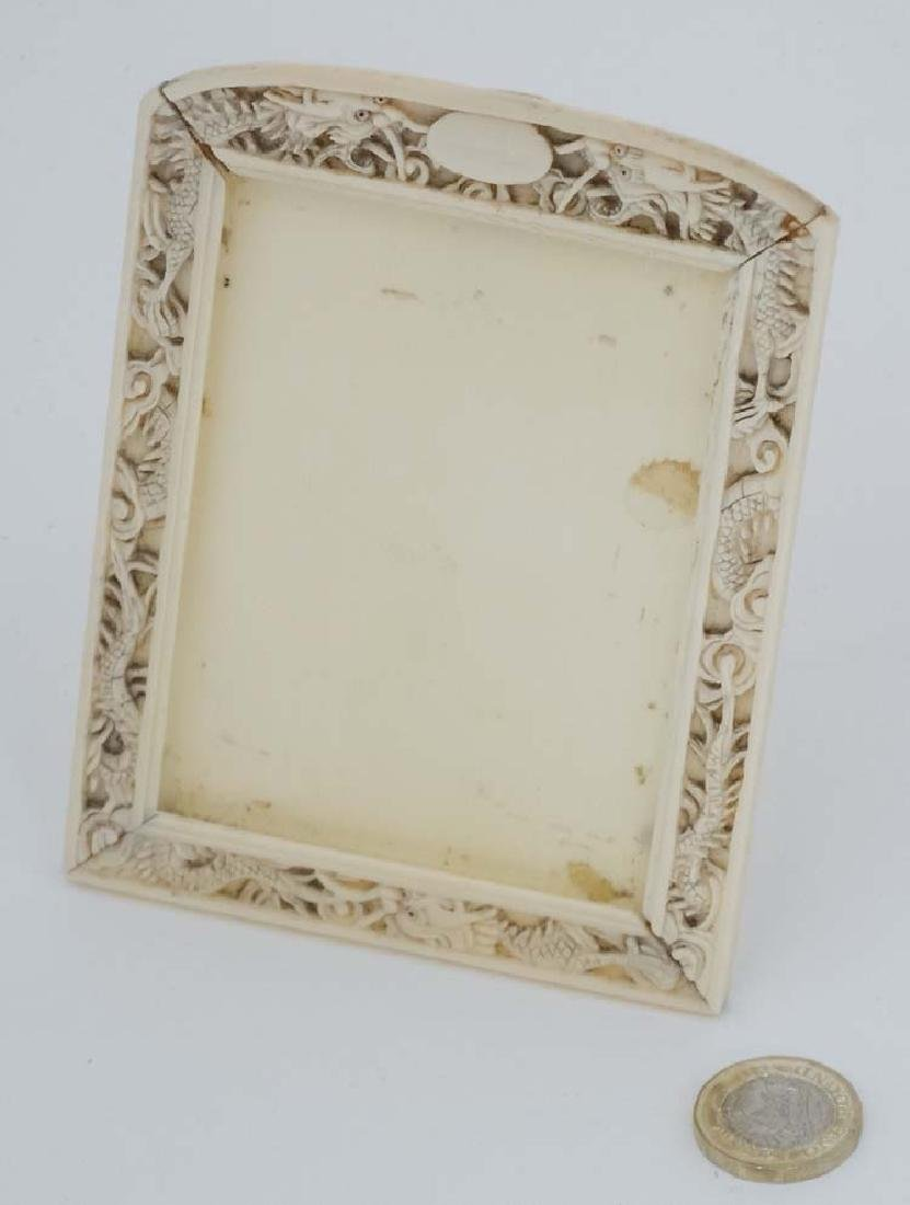 A c. 1900 carved Cantonese Ivory photograph frame with