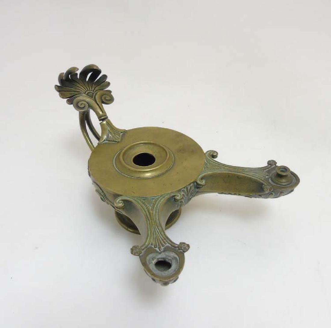 An 18thC / 19thC after the Antique Roman, cast brass